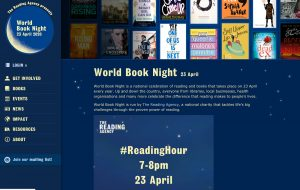 Screenshot - World Book Night site